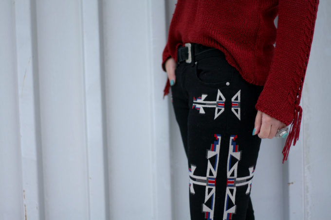 Isabel Marant Renell Jeans knock off navajo aztec print rip off