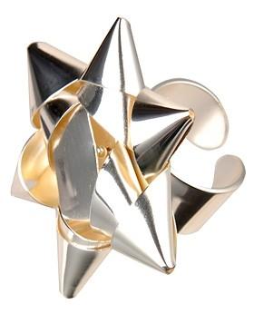 Margiela silver gift bow cuff 2