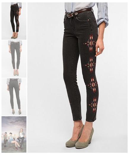 urban outfitters navajo jeans