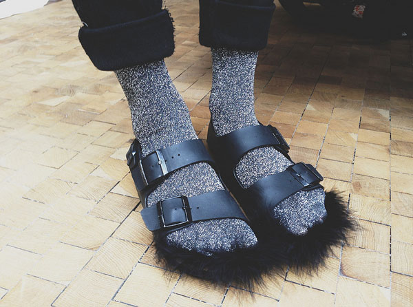 DIY-Celine-fur-sandals-by-Urban-Beings